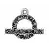Toggle Spiral 16mm Antique Silver